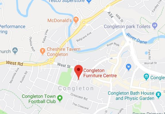 Congleton Furniture Centre Map